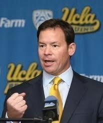 UCLA football coach Jim Mora